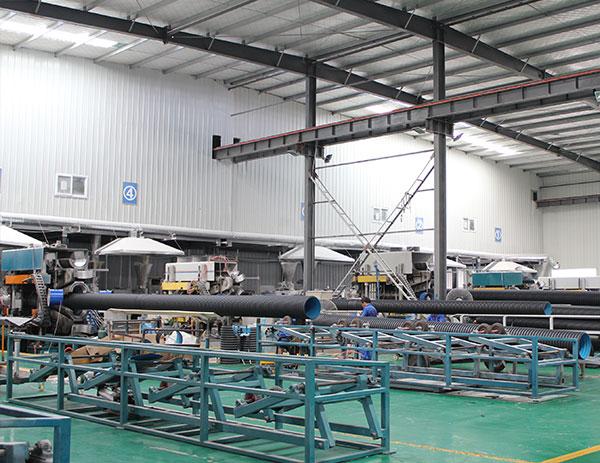 HDPE双壁波纹管生产车间